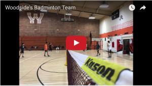 Woodside's Badminton Team