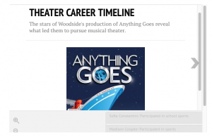 The Stars of Anything Goes Get Cast into College