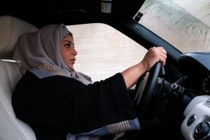 Saudi Arabian women are welcomed to the driver's seat