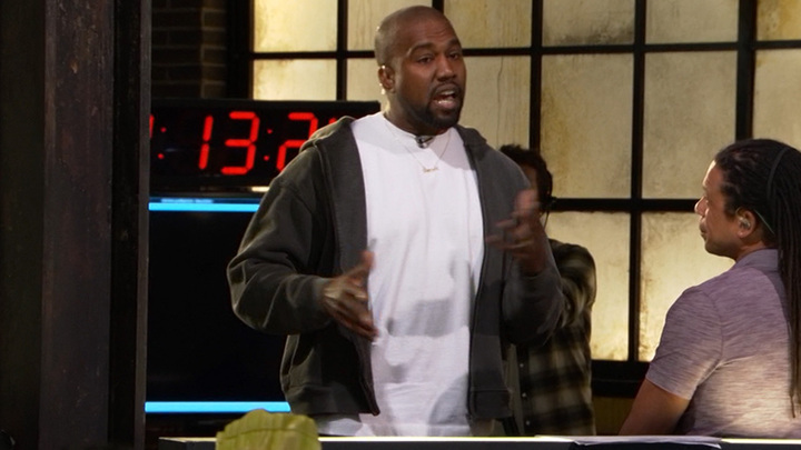 Kanye+West+delivers+his+political+views+in+the+TMZ+newsroom.