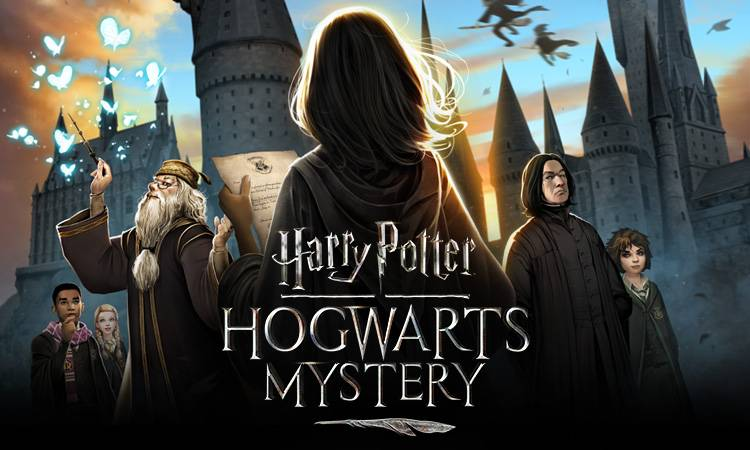 The+%22Hogwarts+Mystery%22+official+logo+depicts+many+familiar+characters+from+the+original+book+series.
