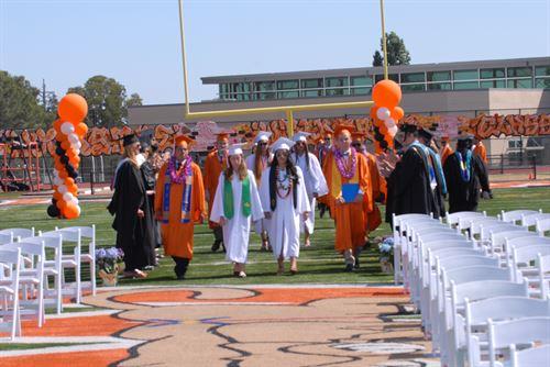 Woodside senior making their way to graduation.