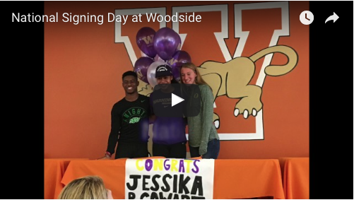 Woodside Athletes Sign Their National Letters of Intent