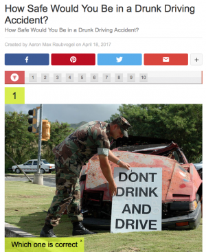 The Dangers of Drunk Driving Quiz