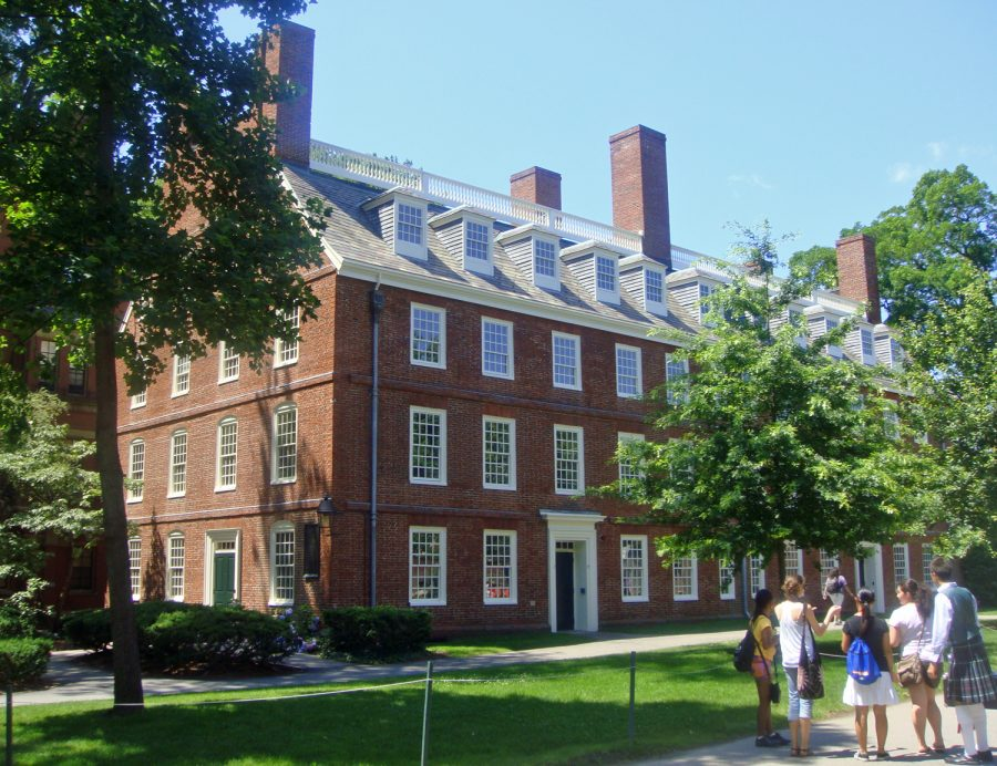 Massachusetts Hall, the oldest building at Harvard