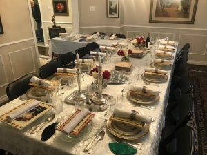 The Passover Seder Place Settings