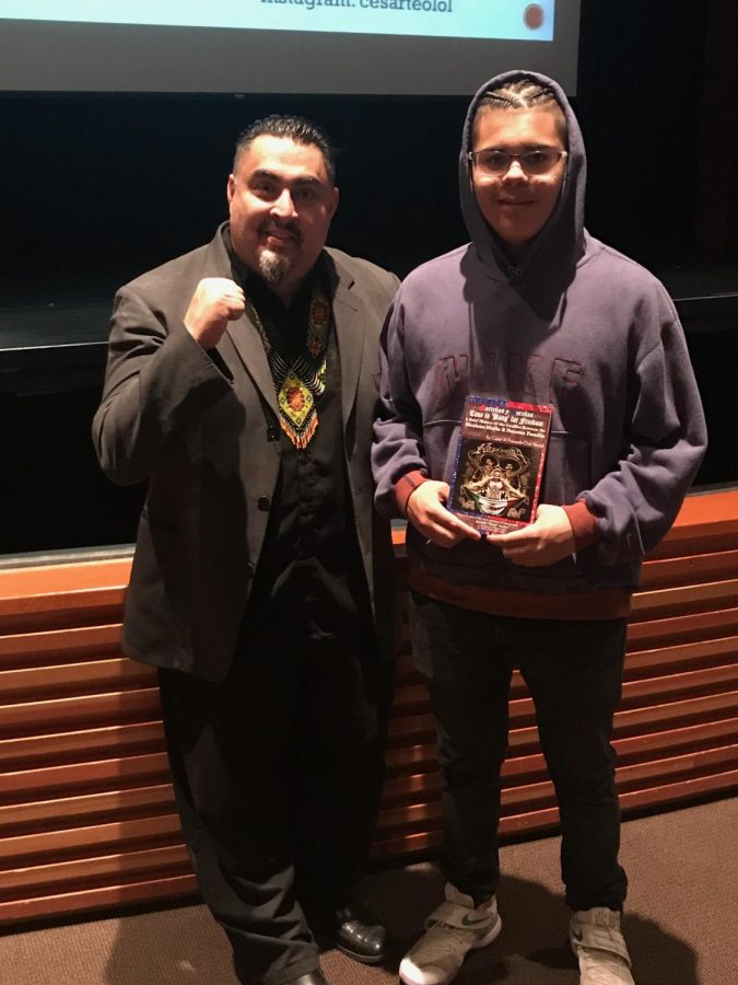 Cesar Cruz spoke to Woodside students about never giving up.
