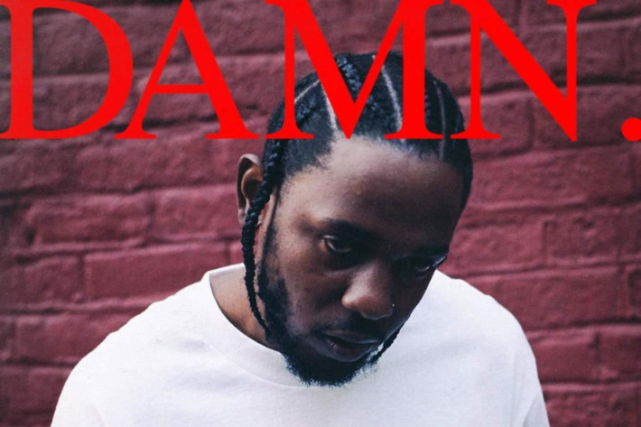 Kendrick Lamar's album cover for his highly praised album DAMN.