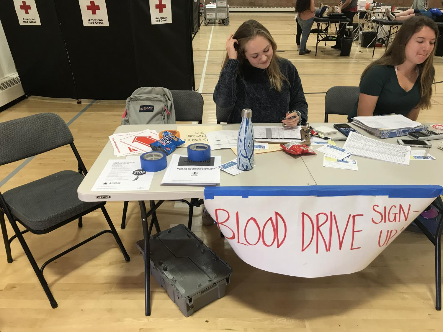 Holly Rusch, lead of the Blood Drive committee, was happy with the turnout.