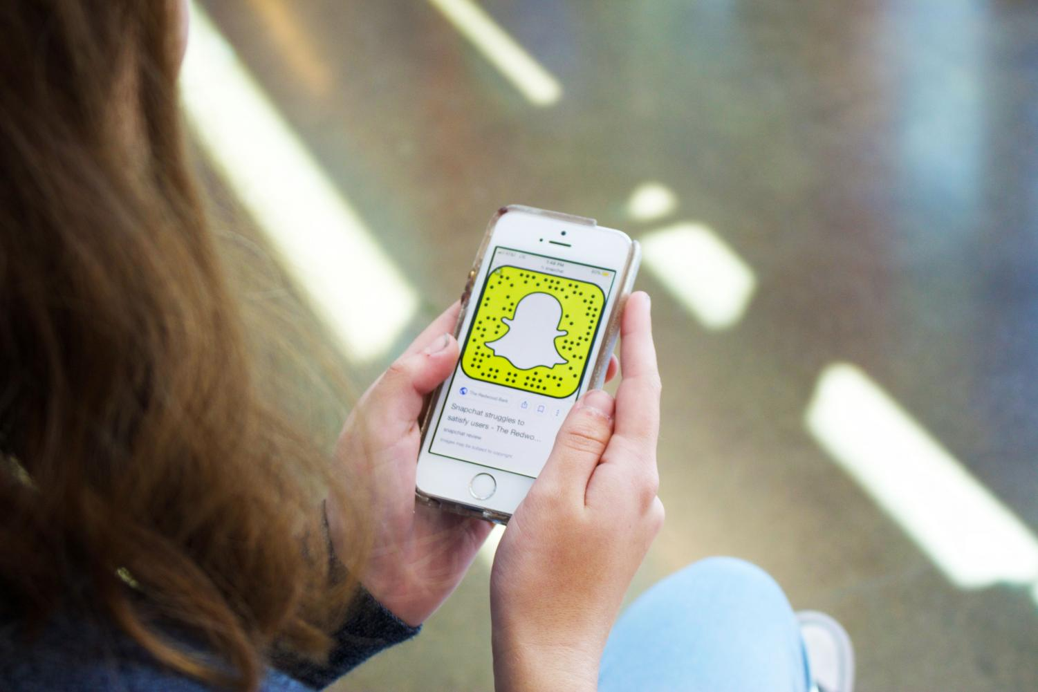 Snapchat is one of the most popular social media apps among Woodside students.