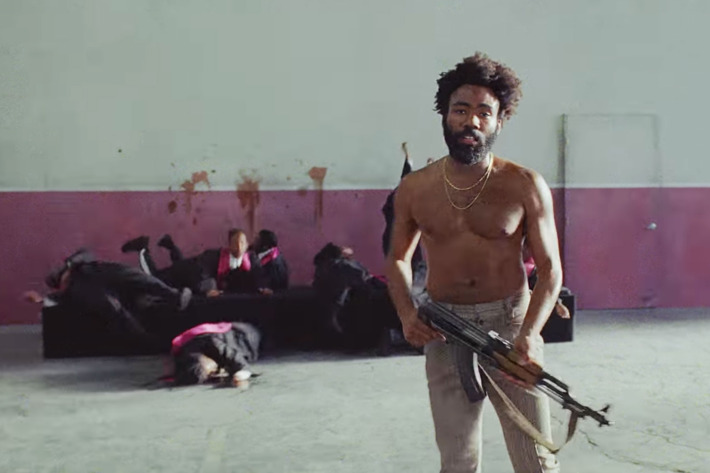 Childish Gambino shot the black choir in the video to represent the Charleston church shooting.