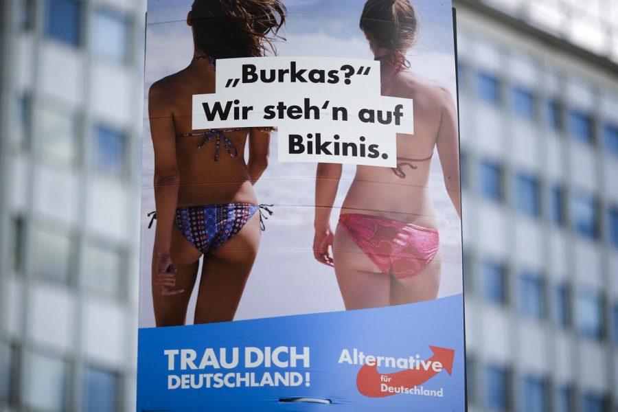"""""""Burkas? We prefer Bikinis."""" Courtesy of Wikimedia."""