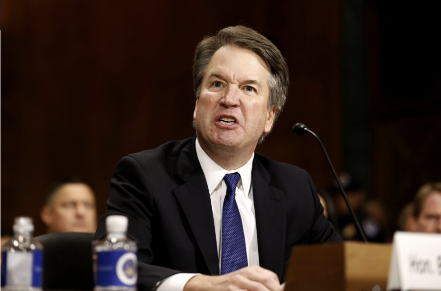 Judge Brett Kavanaugh during a Senate hearing