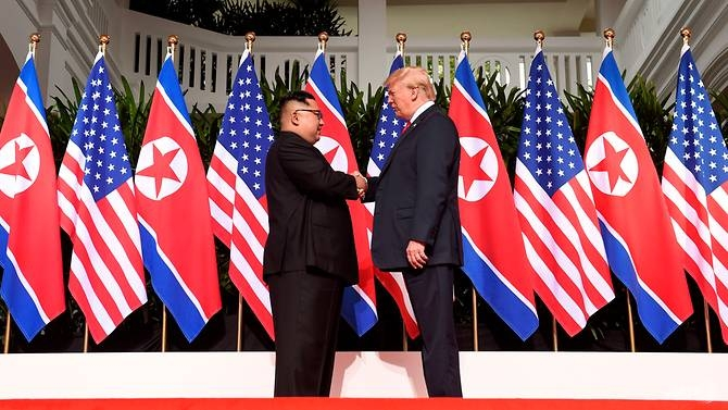 Supreme Leader Kim and President Trump at the Singapore Summit