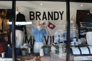 The storefront of Brandy Melville, a very popular girls clothing store