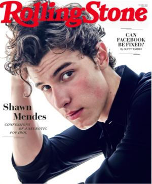 Shawn Mendes's cover on Rolling Stone