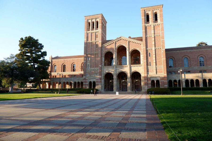 Royce Hall is one of the landmark buildings at University of California, Los Angeles.