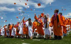 Woodside Grad Robes Go Orange