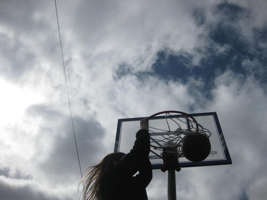 I made the hoop shorter, so I can dunk.