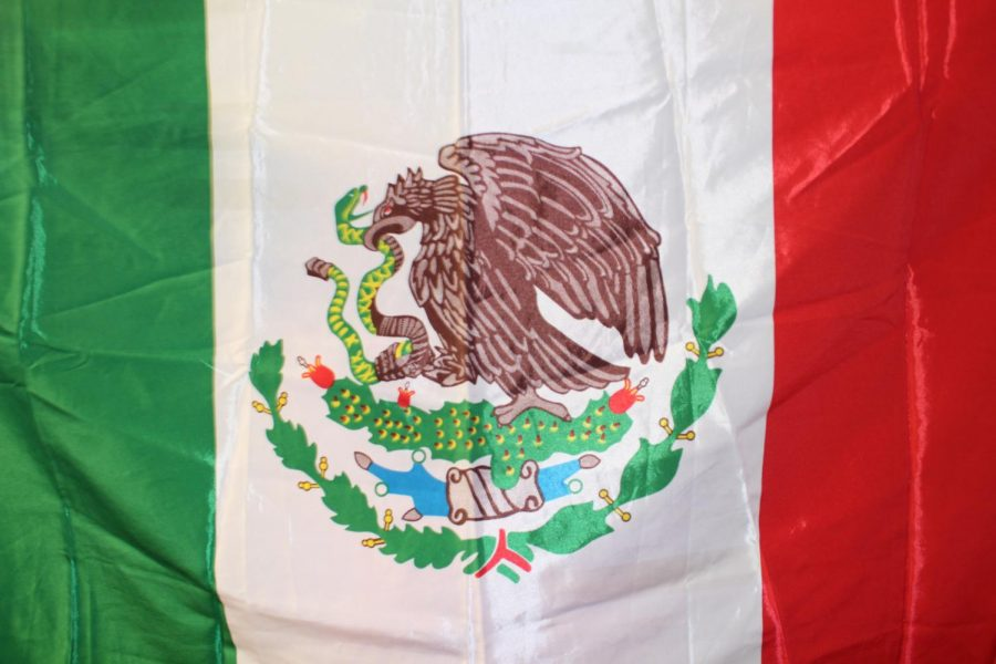 The Mexican flag representing a strong culture and also my family.