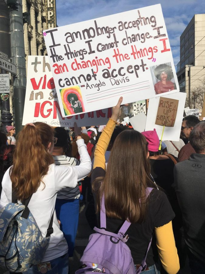 People+of+all+ages+joined+together+for+a+women%27s+rally+in+San+Francisco.