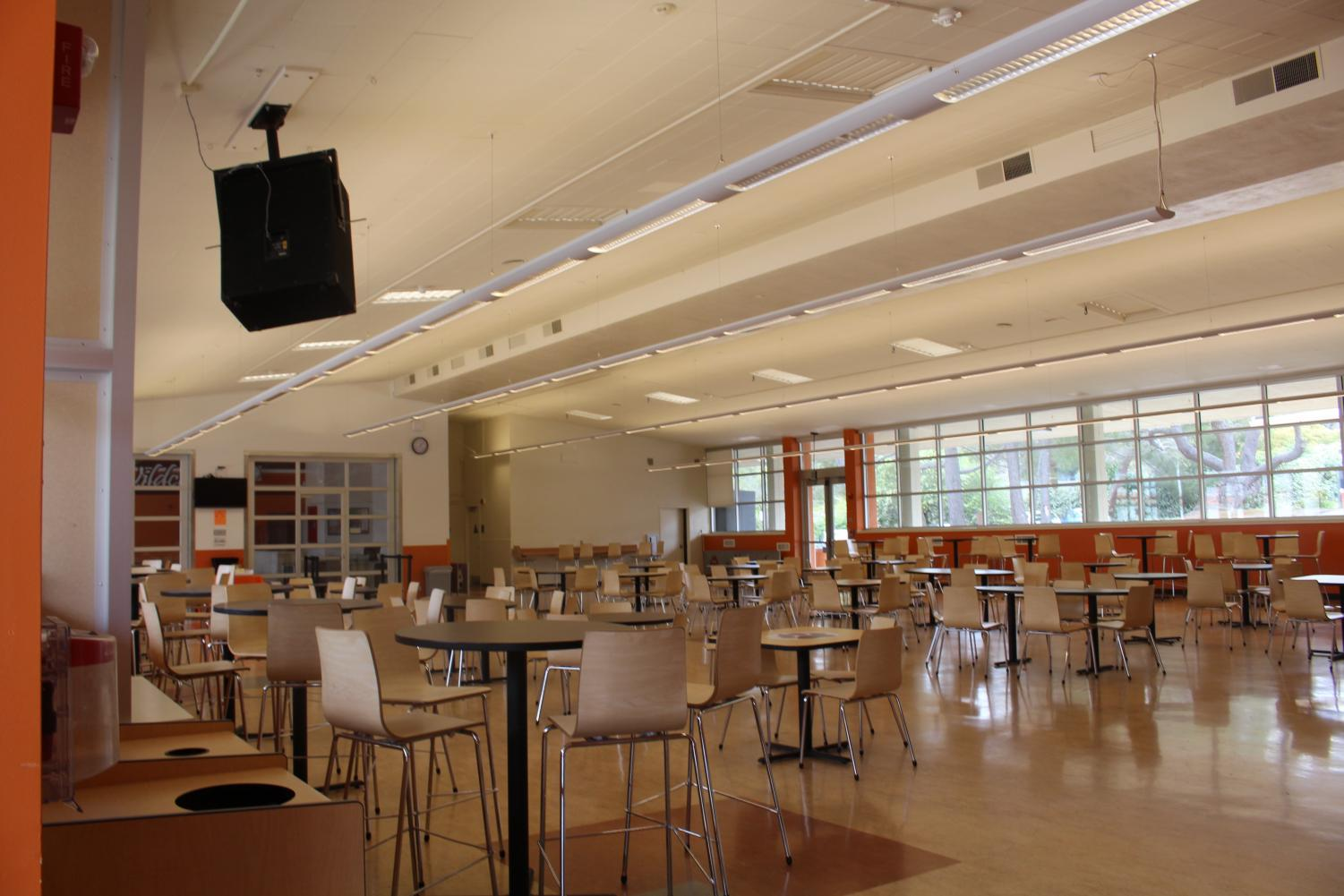 The multi-use room (MUR) at Woodside High School is where everyone has lunch , but it is also where the freshman transition program is held.