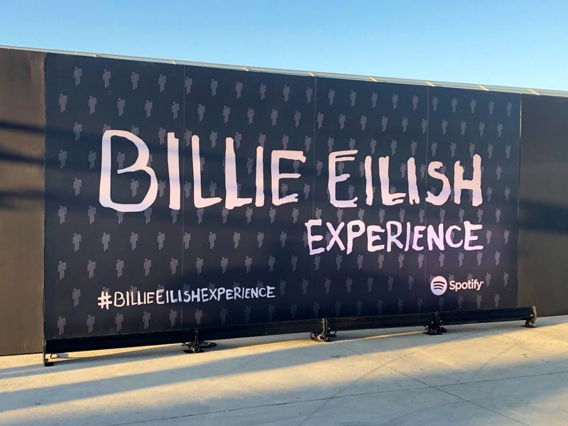 Fans attended the BILLIE EILISH EXPERIENCE hosted by Spotify in Los Angeles, a collection of interactive rooms inspired by her new album.