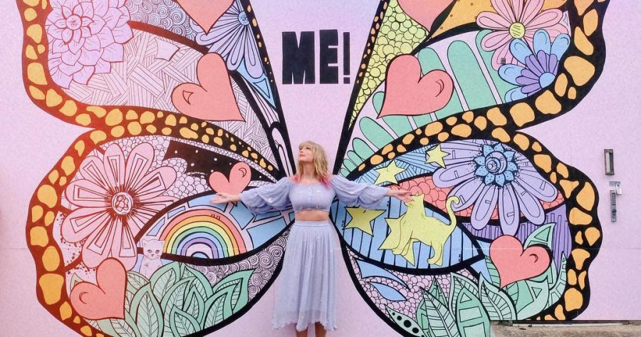 Swift revealed the name of her lead single by posting an Instagram photo of herself in front of a custom butterfly mural.