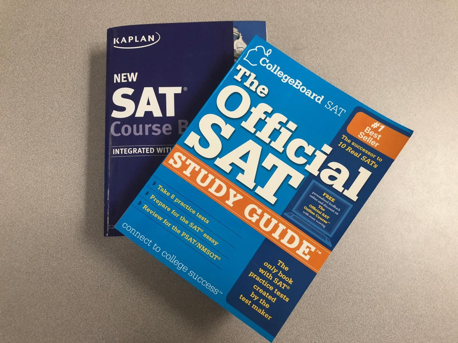 The College and Career Center has SAT books available for students to borrow.