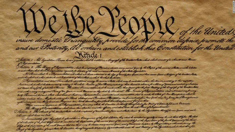 The U.S. Constitution serves as the guideline for most of our current political procedures.