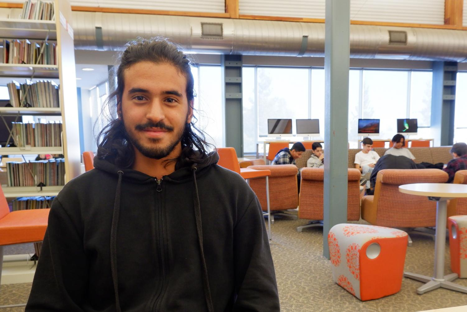 Adam Ajroudi from Tunisia is a current Woodside senior. He is trilingual and speaks Arabic, French, and English.