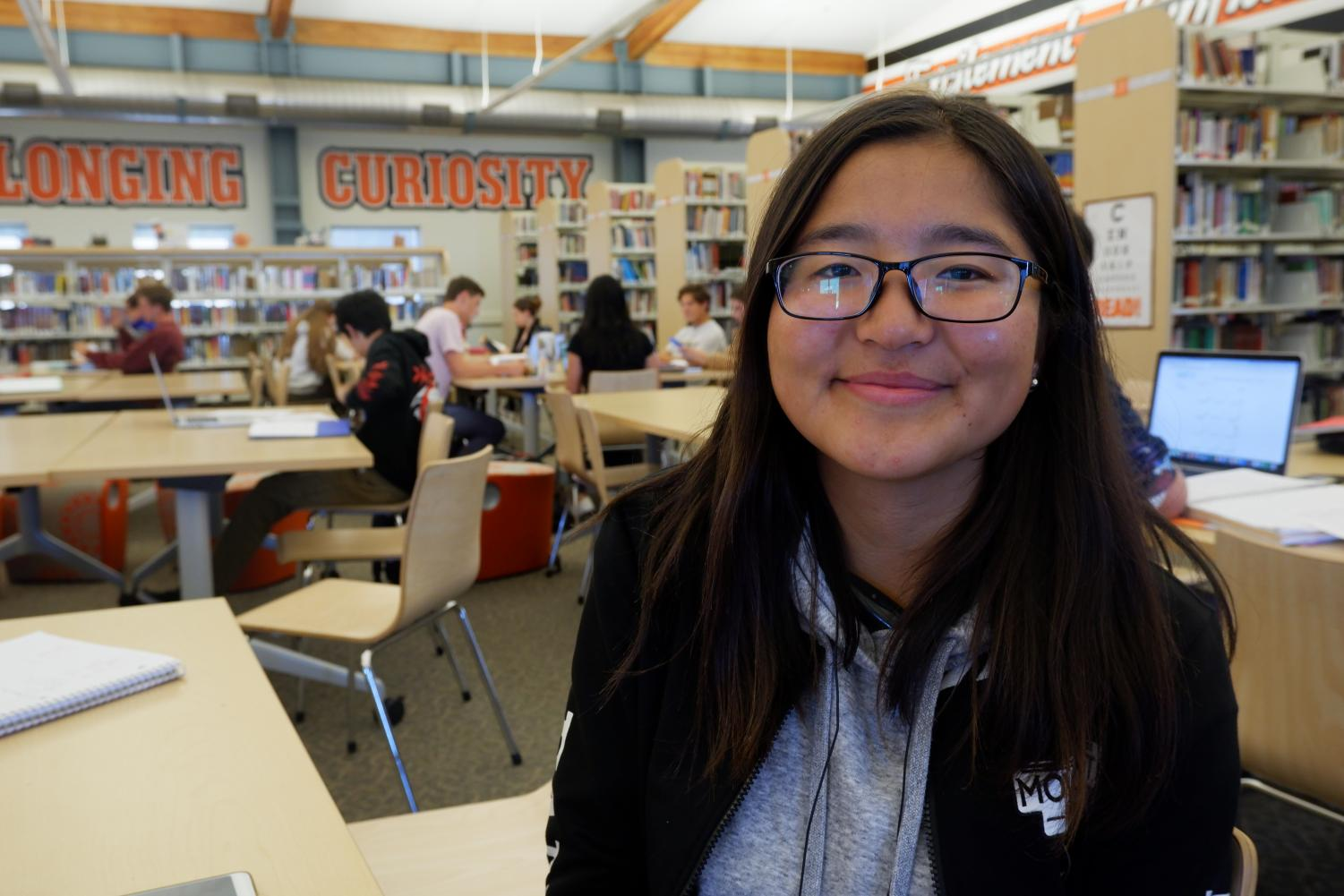 Aibiike Abdysamatova from Kyrgyzstan is a current Woodside junior. Her dream job is to work as the Kyrgyz ambassador to the United Nations.
