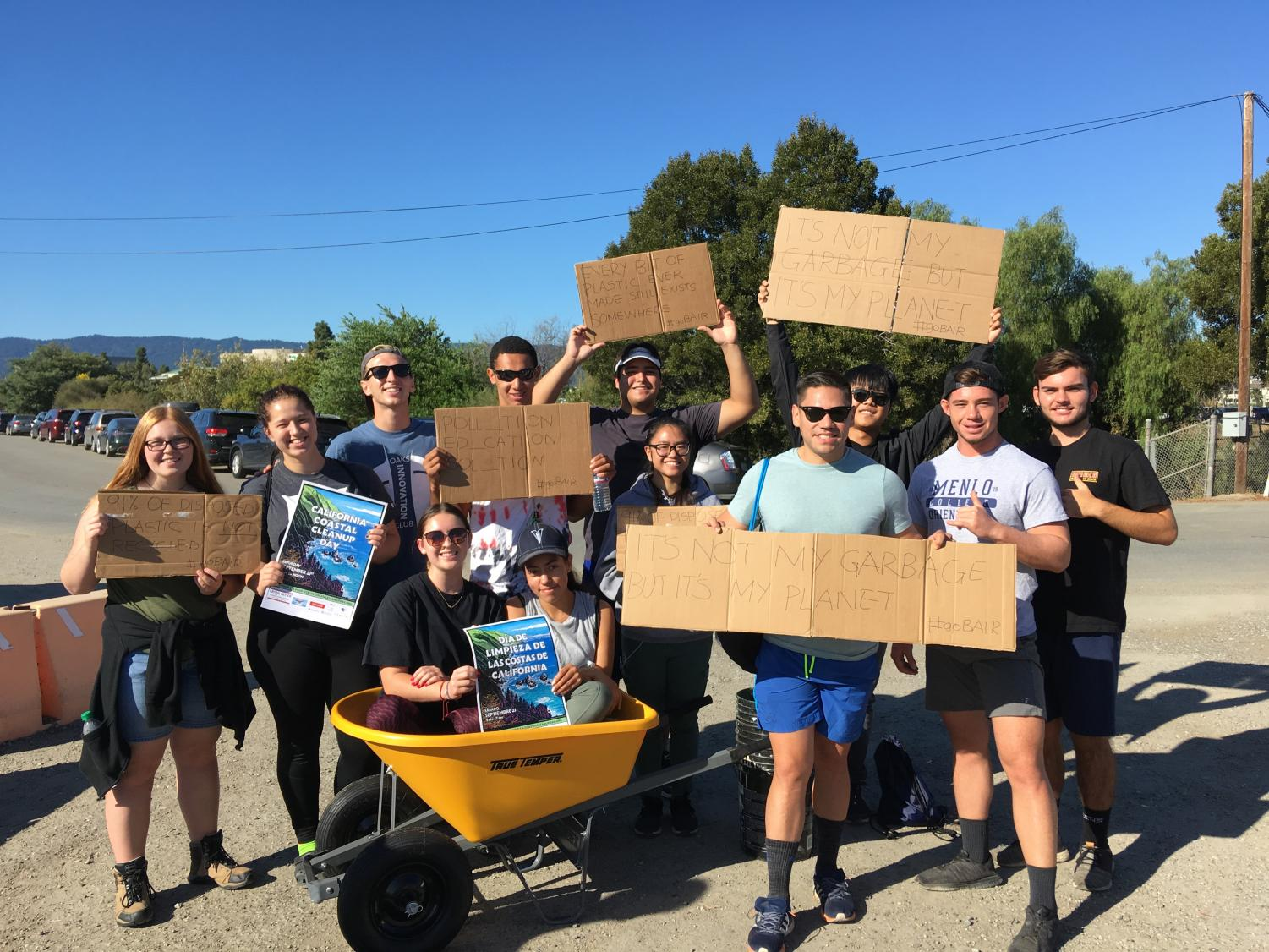 Volunteers for Bair Island Aquatic Center in Redwood City helped clean up debris on September 21, 2019.