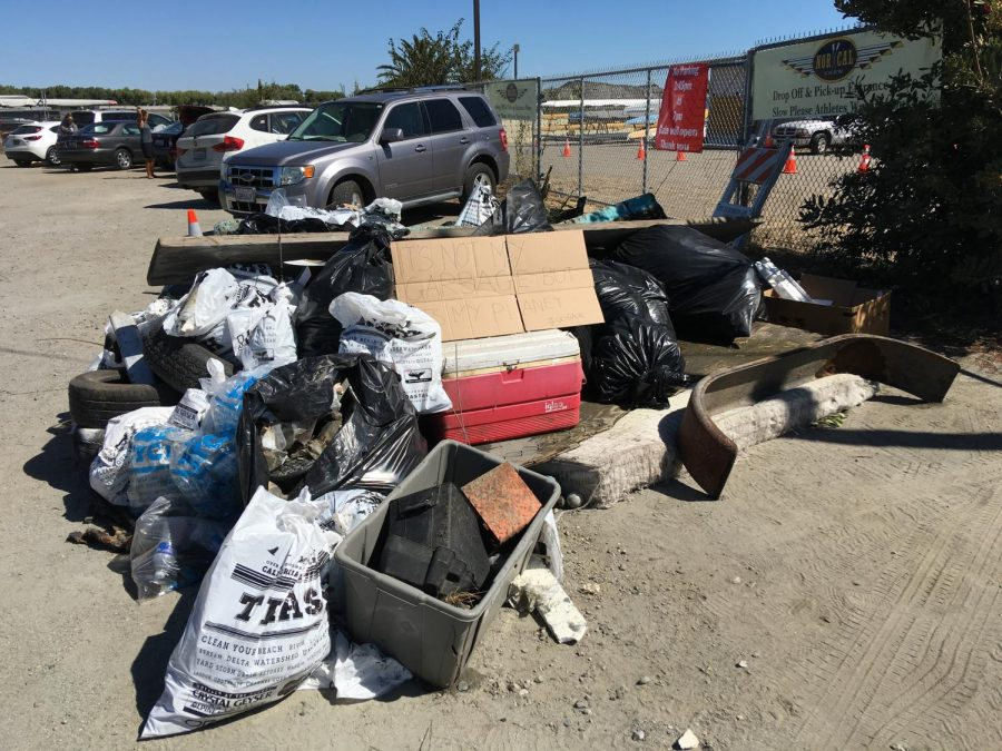 Thirty-eight volunteers picked up 2,000 pounds of debris.