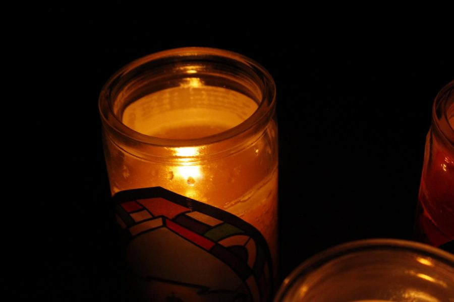 Many families affected by the outages used candles to light up their homes.
