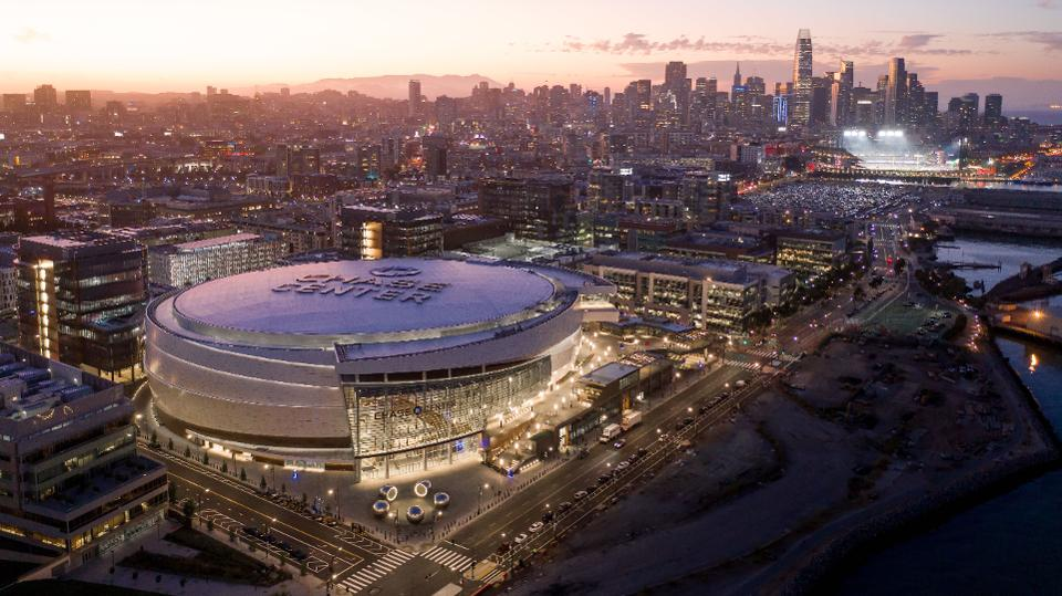 Here's a bird's eye view of the Chase Center located in San Francisco.