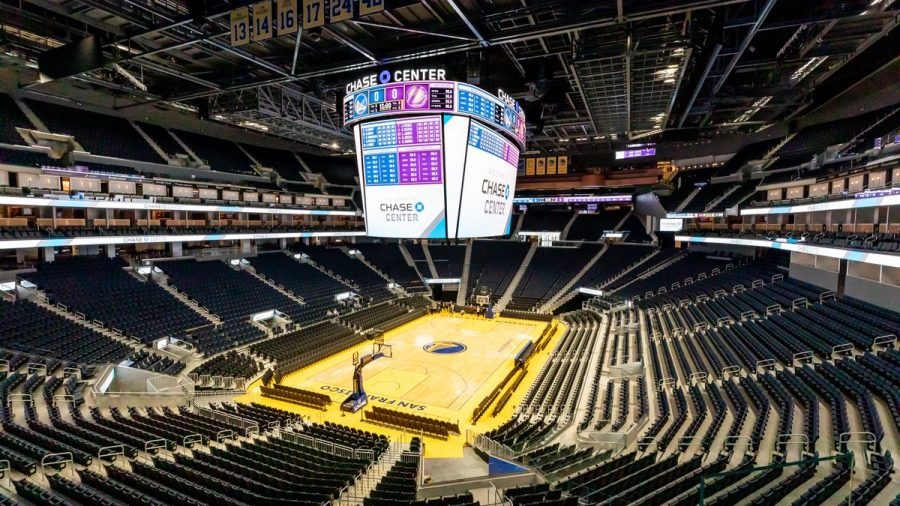 Inside picture of the Chase Center