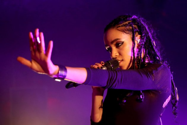 English singer-songwriter FKA Twigs performs in downtown Seattle on November 18, 2014.
