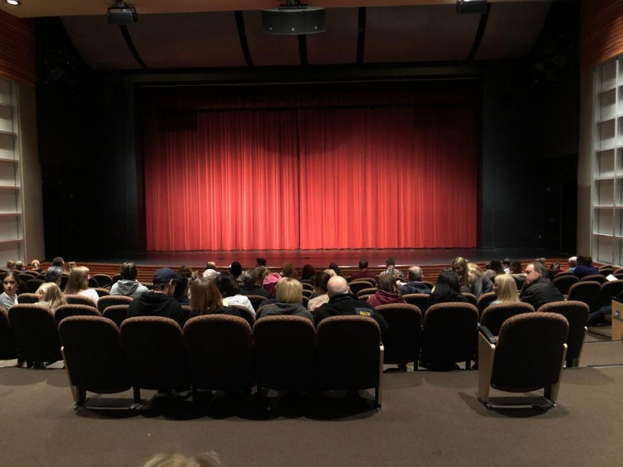 The audience waits for the first act to begin on Friday November 22.