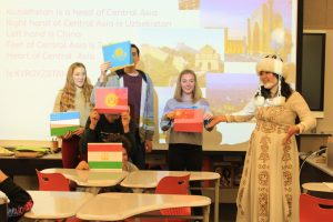 Woodside exchange students represented their culture during International Education Week.