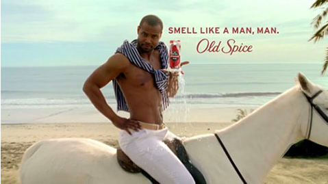 Old Spice commercials for men can sometimes display stereotypical masculinity.