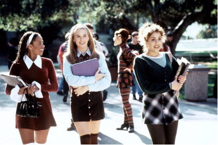 "Photo from whowhatwear.com. This photo is from ""Clueless,"" a popular movie from the nineties, showcasing teen's style during this time. Plaid skirts, corduroy, and mini dresses have now resurfaced in teen's wardrobes."