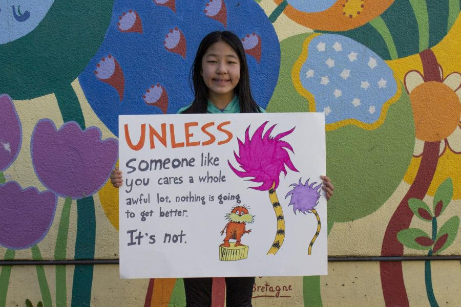 Natalie Su ended her speech with a quote from Dr. Seuss's The Lorax: