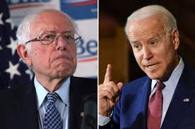 Bernie Sanders (left) and Joe Biden (right)