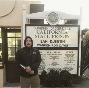 Andrew Ho pictured at the San Quentin State prison where he volunteered as a tutor in 2017.
