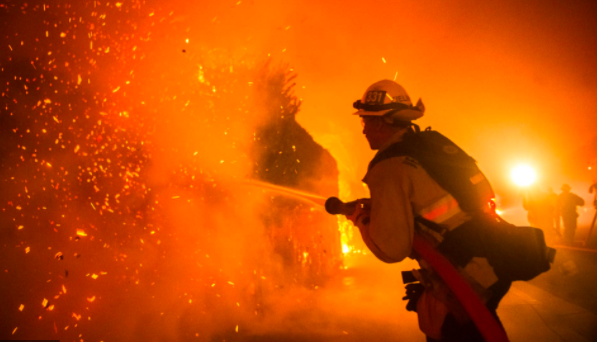 Firefighters on the front lines of the Northern California wildfires.