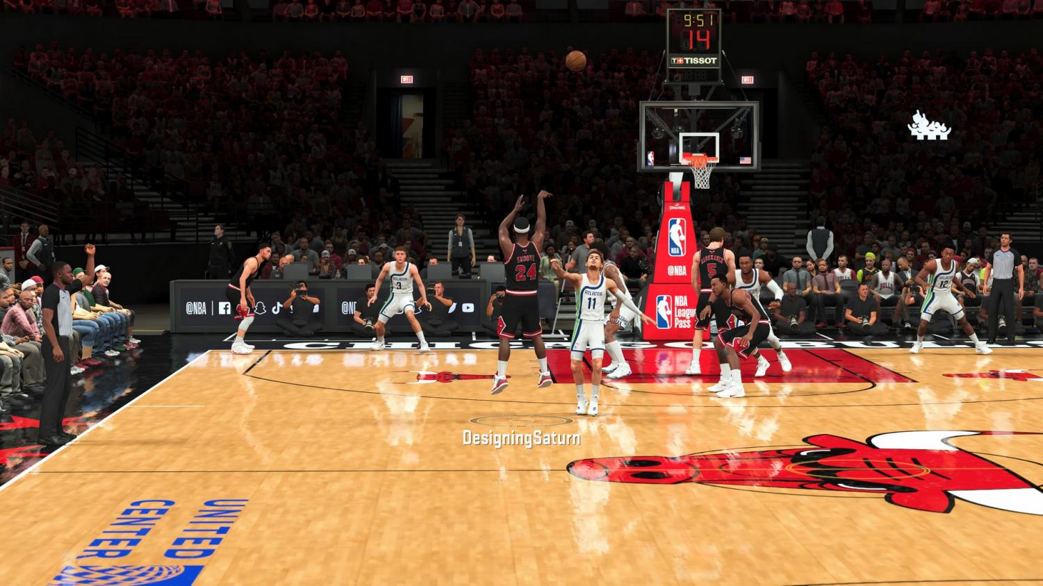 Jay'len Collins making a free-throw in NBA 2K21.