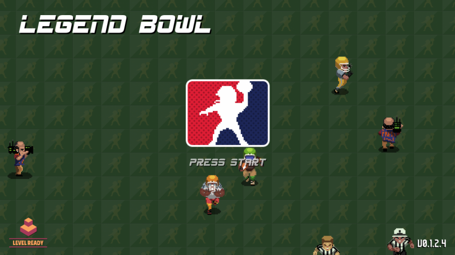 The title screen of King Javo's new game Legend Bowl