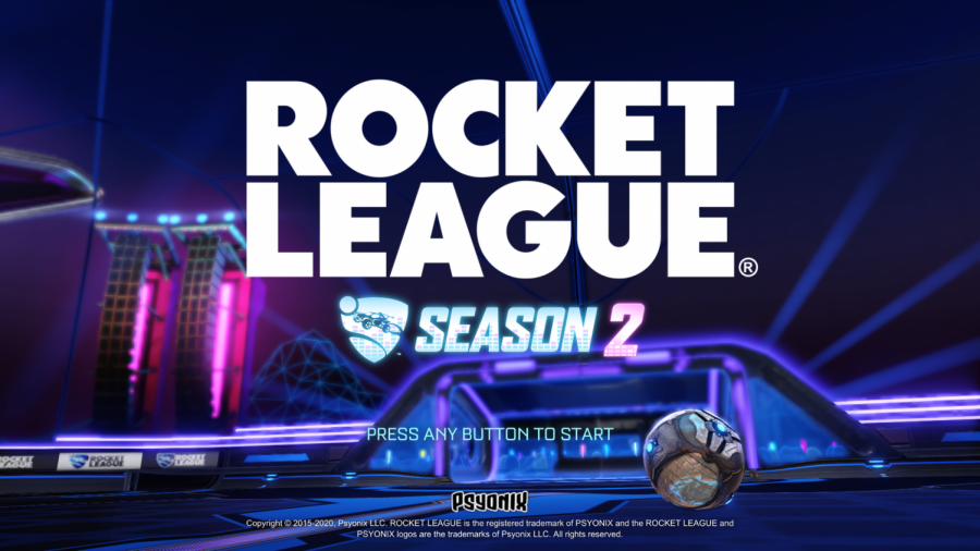 Rocket League's new start up screen advertising Season 2