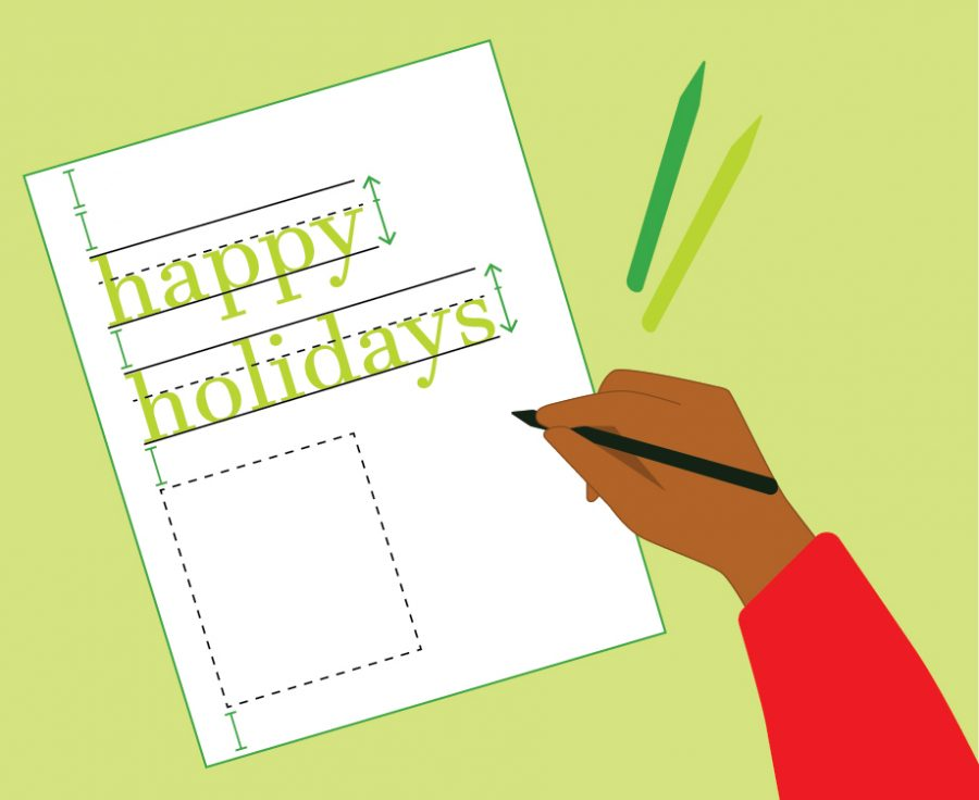 Learn some graphic design elements to apply to your holiday cards this year.